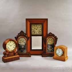 Five American Shelf Clocks