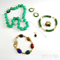Six Pieces of Asian Jewelry