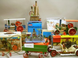 Group of Boxed German Steam Toys and Accessories
