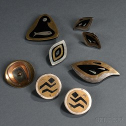 Seven Pieces of Mexican Jewelry and a Hogan Bolas Pin