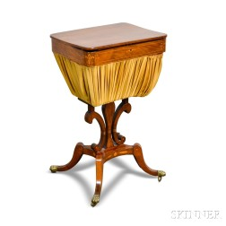 Regency-style Inlaid Mahogany Sewing Stand
