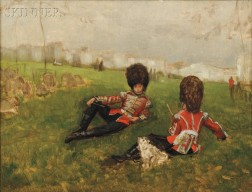 Attributed to James Jacques Joseph Tissot (French, 1836-1902)      Coldstream Drummer Boys