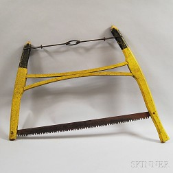 Yellow-painted Hand-saw