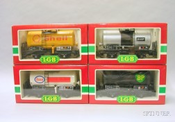 Four Boxed L.G.B. Tank Cars