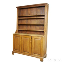 Country Pine Paneled Cupboard
