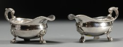 Pair of Paul Storr George IV Silver Gravy Boats