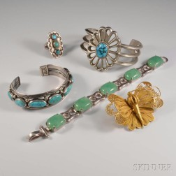 Five Pieces of Jewelry