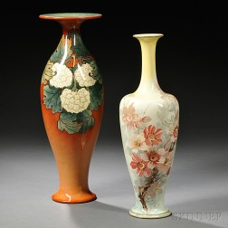 Two Doulton Lambeth Faience Vases