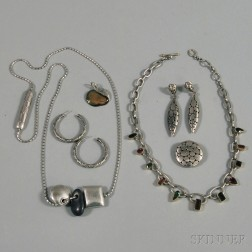 Small Group of Mostly Signed Sterling Silver Jewelry