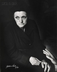 Gordon Parks (American, 1912-2006)      Mademoiselle Victoire Desno, Unemployed Old French Domestic, Paris