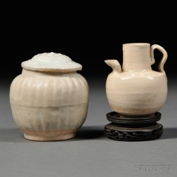 Covered Jarlet and Small Ewer