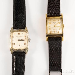 Ulysse Nardin 14kt White Gold Chronometer and a Lord Elgin Gold-filled Wristwatch.     Estimate $150-200