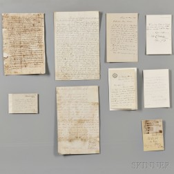 Varia: Autograph Documents and Letters, Nine.