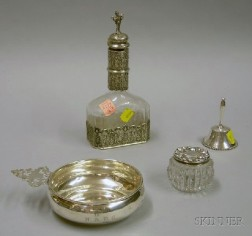 Four Small Sterling Silver and Sterling Silver-mounted Tablewares