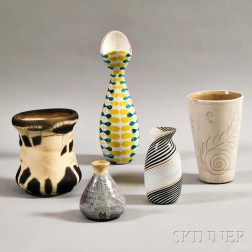 Five Contemporary Vases