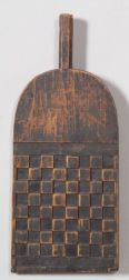 Carved and Painted Checkers GameBoard Paddle