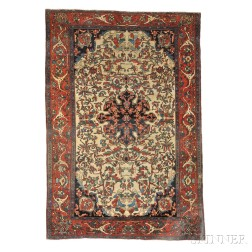 Antique Fereghan Sarouk Persian Rug
