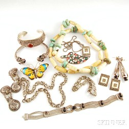 Group of Sterling Silver and Stone Jewelry