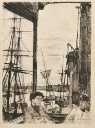 James Abbott McNeill Whistler (American, 1834-1903)      Rotherhithe