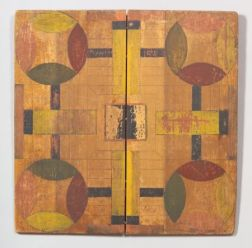 Painted Folding Wooden Parcheesi Board