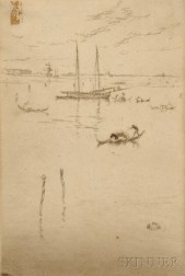 James Abbott McNeill Whistler (American, 1834-1903)      The Little Lagoon