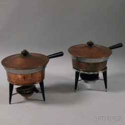 Pair of Mid-Century Chafing Dishes