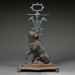 Cast Iron Umbrella Stand with Terrier