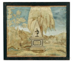 Framed Needlework Memorial to Susanna Smith
