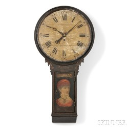 """Snelling Painted """"Act of Parliament"""" Clock"""