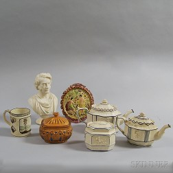Seven Assorted English Pottery Items