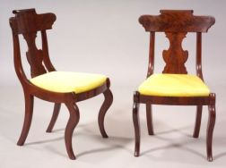 Pair of Classical Mahogany Child's Chairs