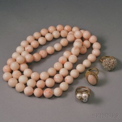 Small Group of Coral and Pearl Jewelry