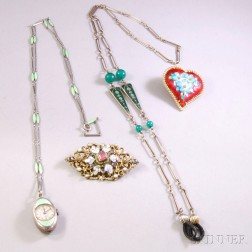 Small Group of Enamel Jewelry