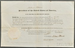 Fillmore, Millard (1800-1874) Document Signed, 27 August 1850.