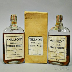 Nelson Old Kentucky Standard Whiskey 7 Years Old 1916, 3 pint bottles (one with oc)
