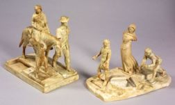 Paul Howard Manship (American, 1885-1966)    Lot of Two Figural Groups:  Settlers of East