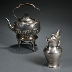 Two Pieces of Victorian Sterling Silver Hollowware