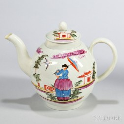 Lead-glazed Pearlware Teapot and Cover