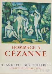 After Paul Cézanne (French, 1839-1906)      Hommage a Cézanne   Exhibition Poster