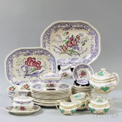 Group of Mostly Copeland Spode Mayflower Pattern Tableware