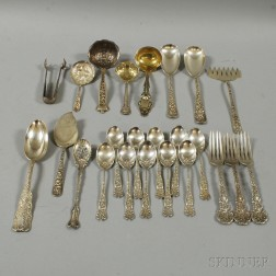 Assorted Group of Sterling Silver Flatware and Serving Pieces