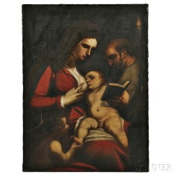 After Luca Cambiaso (Italian, 1527-1585)      Holy Family