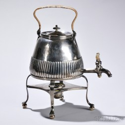 George III Sterling Silver Hot Water Urn on Stand