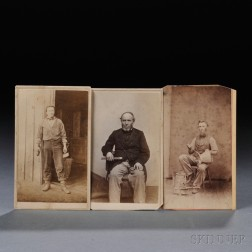 Three Occupational Carte-de-Visits of Workmen