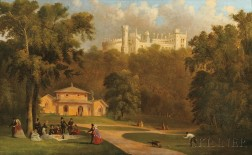 Thomas Mickell Burnham (American, 1818-1866)      Belvoir Castle from the Dairy, England