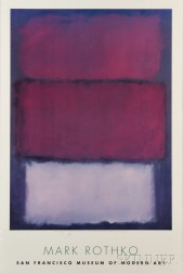 After Mark Rothko (American, 1903-1970)      San Francisco Museum of Modern Art Poster.
