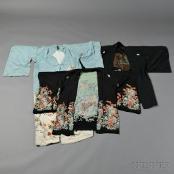 Three Silk Kimonos