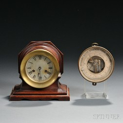 Waterbury Ship's Bell Clock and John Bliss & Co. Holosteric Barometer