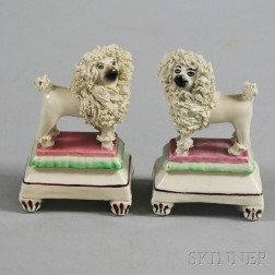 Pair of Porcelain Staffordshire Spaniels