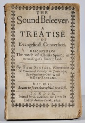Shepard, Thomas (1605-1649) The Sound Beleever.